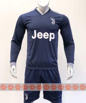 Quần áo bóng đá Tay dài Juventus màu Xanh Đen mùa giải 20-21