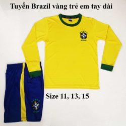 Quần áo bóng đá Tay Dài  Trẻ Em CLB DORTMUND Màu Vàng