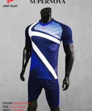 Áo bóng đá không logo cao cấp JP-SUPERNOVA màu Xanh Đậm
