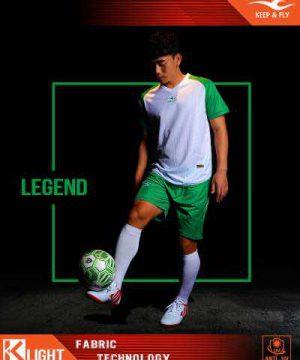 Áo bóng đá không logo cao cấp KEEP & FLY LEGEND màu Xanh Bích