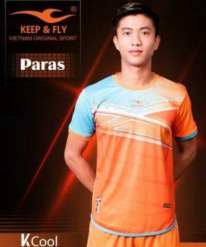 Áo bóng đá không logo cao cấp KEEP & FLY PARAS màu Xanh Da