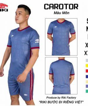 Áo bóng đá không logo cao cấp RIKI-CAROTOR màu Xanh Bích