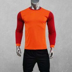 Áo bóng đá không logo cao cấp THỦ MÔN có mút đệm Just Play màu Cam