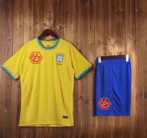 Áo đấu Đội Tuyển Brazil hàng Thái cao cấp màu Vàng 2020