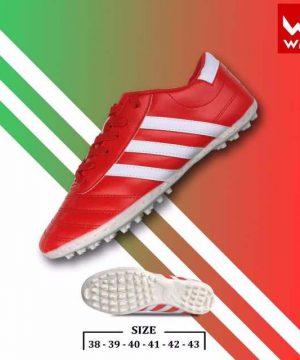 Giày đá banh Đế đinh TF Wika 3 Sọc Sân cỏ nhân tạo màu Đen mới