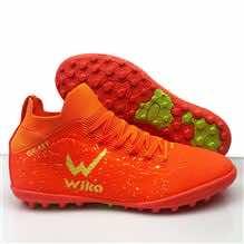 Giày đá banh Đế đinh TF Wika 3 Sọc Sân cỏ nhân tạo màu Xanh Dương mới