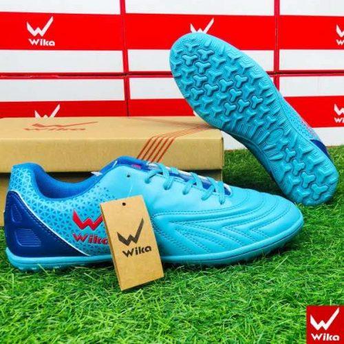 Giày đá banh Đế đinh TF Wika Neo One Sân cỏ nhân tạo màu Xanh Dạ Quang