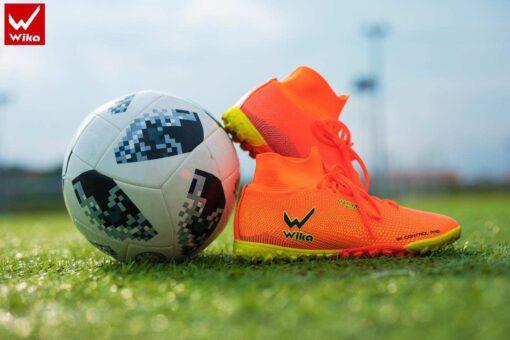 Giày đá banh Đế đinh TF Wika Superspeed Sân cỏ nhân tạo màu Vàng Chuối mới