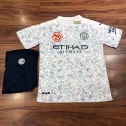 Quần áo bóng đá hàng Thái cao cấp Manchester City màu Trắng 2020