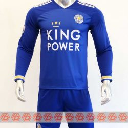 Quần áo bóng đá Tay dài Leicester màu Xanh mùa giải 20-21