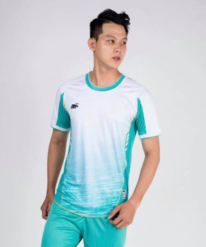 Áo bóng đá không logo cao cấp RIKI-GRAMBOR màu Xanh Da