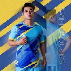 Áo bóng đá không logo thiết kế cao cấp IWIN COOL A04 màu Xanh Da mới