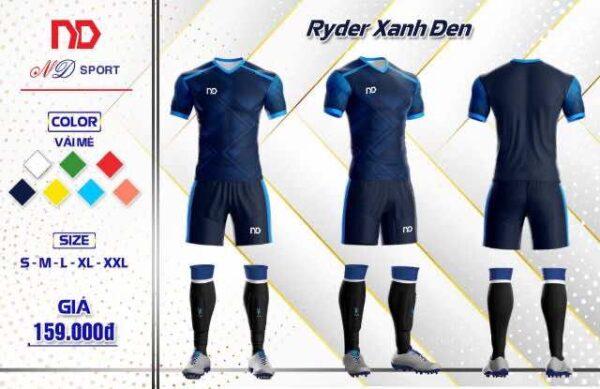 Áo bóng đá không logo thiết kế cao cấp ND-RYDER màu Đỏ