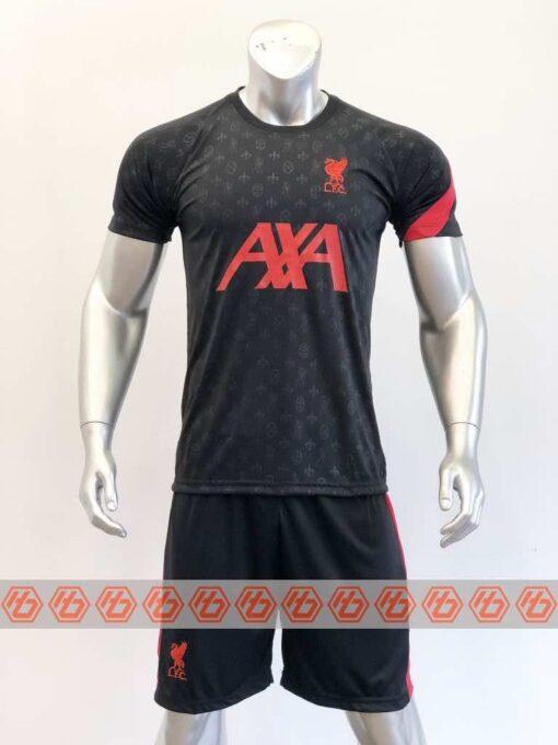 Quần áo bóng đá Liverpool màu Xám Đen mùa giải 20-21
