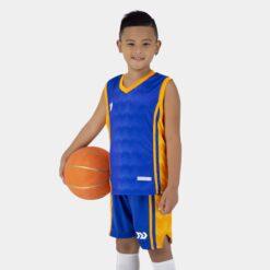 Quần áo bóng rổ Trẻ Em Bulbal-Dino vải mè cao cấp màu Xanh Bích