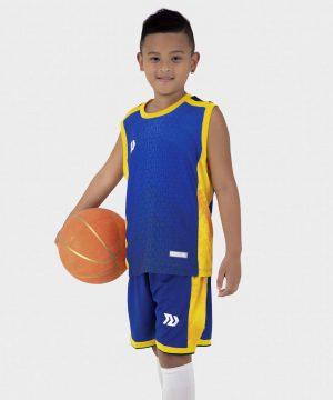 Quần áo bóng rổ Trẻ Em Bulbal-Pacy vải mè cao cấp màu Xanh Bích
