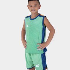 Quần áo bóng rổ Trẻ Em Bulbal-Pacy vải mè cao cấp màu Xanh Ngọc