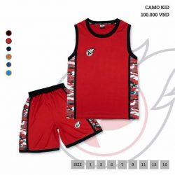 Quần áo bóng rổ Trẻ Em JP-CAMO màu Xanh Đen mới