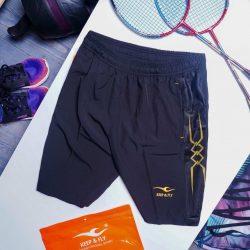 Quần đùi short Nam chạy bộ tập luyện thể dục thể thao Keep Fly sọc Xanh