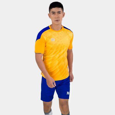Áo bóng đá không logo bulbal lotus màu vàng