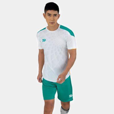 Áo bóng đá không logo bulbal lotus màu tráng