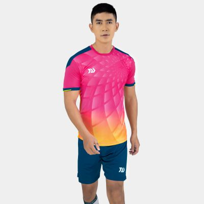 Áo bóng đá không logo bulbal lotus màu hồng
