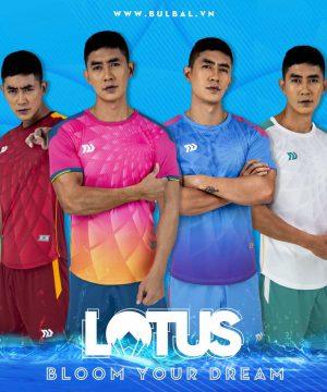Áo bóng đá không logo Bulbal Lotus thun lạnh cao cấp 6 màu