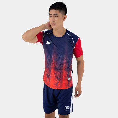 Áo bóng đá không logo thiết kế Bulbal Hades màu đỏ