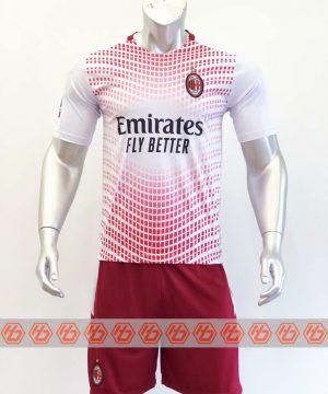 Quần áo bóng đá AC Milan màu Trắng Hồng mùa giải 20-21