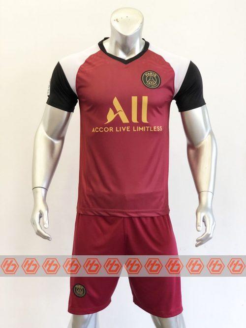 Quần áo bóng đá PSG màu Đỏ Đô mùa giải 20-21