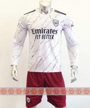 Quần áo bóng đá Tay dài Arsenal màu Trắng mùa giải 20-21