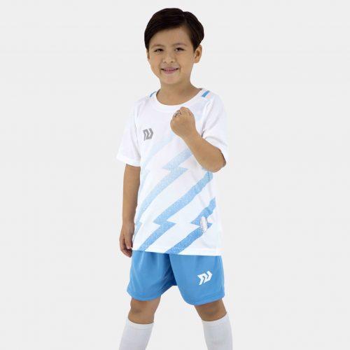 Quần áo bóng đá trẻ em cao cấp Bulbal FLASH vải mè 6 màu - Cam
