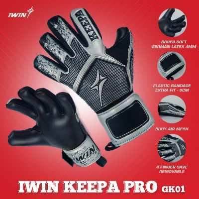 Găng tay thủ môn Iwin Keepa Pro GK01 màu Đen