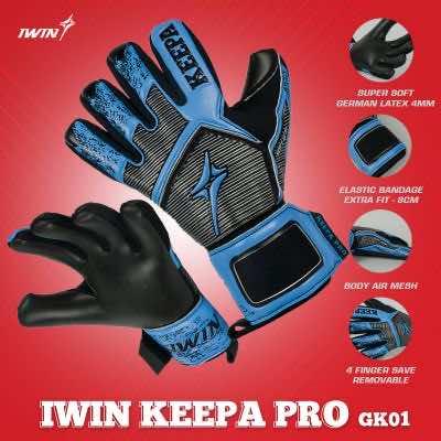 Găng tay thủ môn Iwin Keepa Pro GK01 màu Xanh Đen