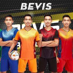 Áo bóng đá không logo CP BEVIS thun lạnh cao cấp 6 màu mới