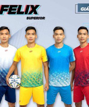 Áo bóng đá không logo CP FELIX vải mè cao cấp 6 màu