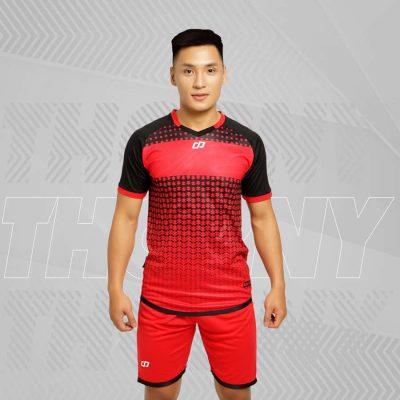 Áo bóng đá không logo cao cấp CP THORNY màu Đỏ