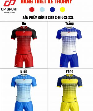 Áo bóng đá không logo CP THORNY thun lạnh cao cấp 4 màu