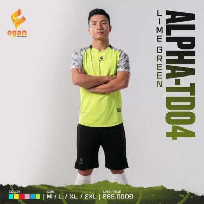 Áo bóng đá không logo cao cấp Egan Alpha-TD04 màu Xanh Chuối