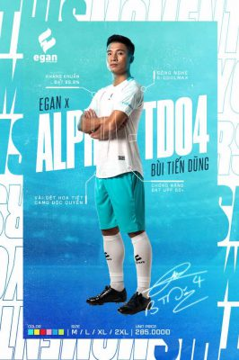 Áo bóng đá không logo Egan Alpha-TD04 vải mè cao cấp hình người mẫu