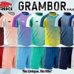 Áo bóng đá không logo RIKI GRAMBOR thun lạnh cao cấp 7 màu