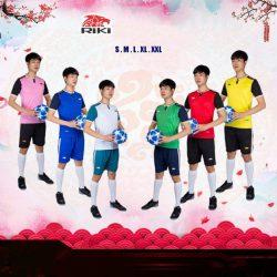 Áo bóng đá không logo RIKI NECK thun lạnh cao cấp 6 màu