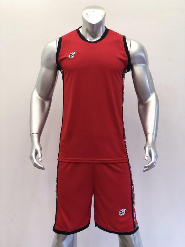 Áo bóng rổ CAMO màu ĐỎ