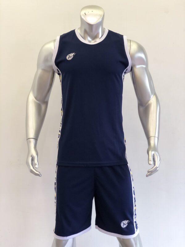 Áo bóng rổ CAMO màu xanh đen