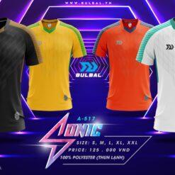Áo bóng đá không logo Bulbal Sonic thun lạnh cao cấp 6 màu