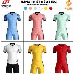 Áo bóng đá không logo thiết kế CP - AZTEC vải mè cao cấp 6 màu