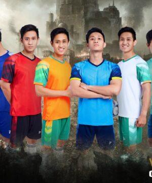 Áo bóng đá không logo thiết kế Just Play VIKING vải mè cao cấp 6 màu