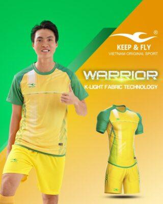 Áo bóng đá không logo Keep Fly WARRIOR màu vàng