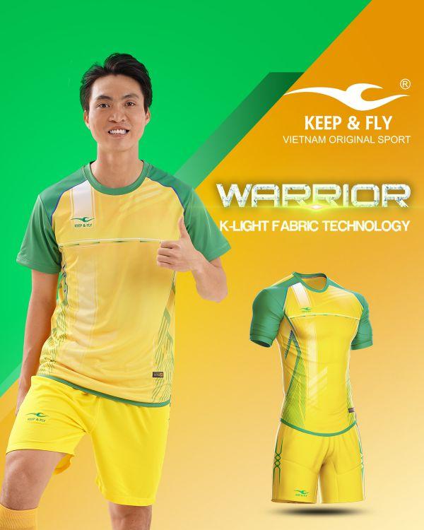 Áo bóng đá không logo thiết kế Keep Fly WARRIOR vải mè cao cấp 6 màu