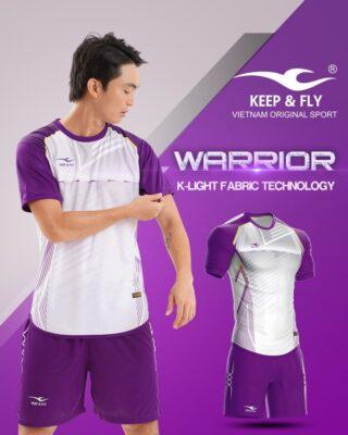Áo bóng đá không logo Keep Fly WARRIOR màu tím